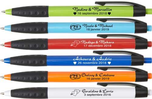 stylos personnalisés en souvenir de mariage