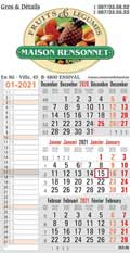 Production de calendriers muraux