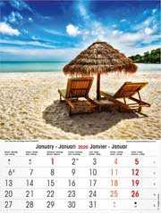 calendrier 2020 Plages