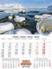 calendrier 2017 Heritage nature