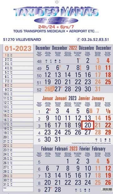 Calendrier Allemand 2020.Calendriers Publicitaires Objet Publicitaire Calendrier