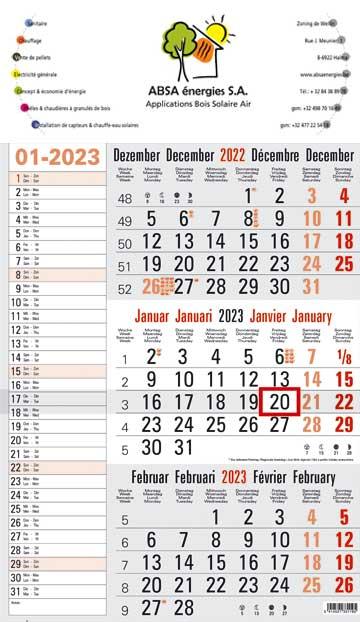 Calendrier 2020 Fete Des Meres.Calendriers Publicitaires Objet Publicitaire Calendrier